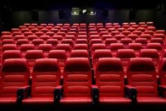 有位子的电影院空的观众席 免版税库存图片