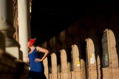 有佛拉明柯舞曲礼服的女孩 图库摄影