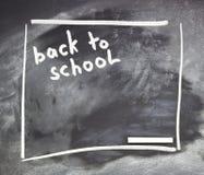 有俗套的白垩的学校或大学黑板 免版税库存图片