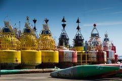 有信号灯的烽火台浮体 免版税库存照片
