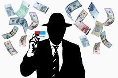 有信用卡的商人 免版税库存图片