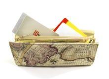 有信用卡的大钱包 免版税图库摄影