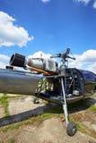 有修剪的一架喷气机直升机在引擎 库存图片