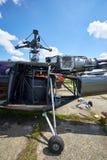 有修剪的一架喷气机直升机在引擎 库存照片