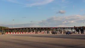 有偿的路,旅行的,检查站,金钱的高速公路付款 影视素材