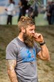 有充分的胡子的运动人 库存图片