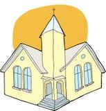 有光晕的教会 库存照片