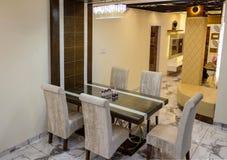 有光的室内设计厨房 库存照片