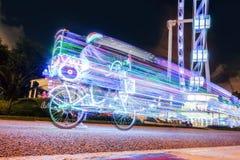 有光的超级凉快的自行车 免版税图库摄影