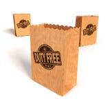 有免税的纸袋 免版税库存照片