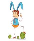 有兔宝宝丝带的人 免版税库存照片