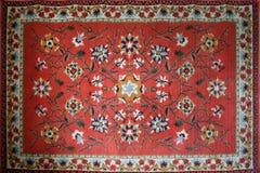 有全国东方人的老地毯 免版税库存图片