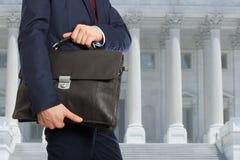 有公文包的律师 免版税库存照片