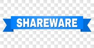 有共享软件标题的蓝色磁带 皇族释放例证