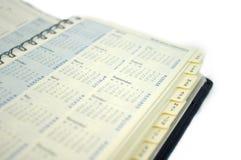 有关闭的日历/计划程序在月 免版税库存图片