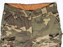 有其矿穴的伪装裤子 免版税库存图片