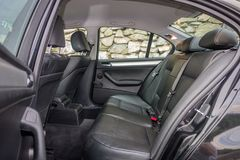有典雅和豪华内部的巴法力亚装备精良的汽车 库存照片