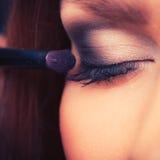 有典雅的眼睛的迷人的妇女组成 图库摄影