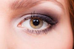 有典雅的眼睛的迷人的妇女组成 库存照片