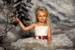 有冠状头饰的小公主 库存图片