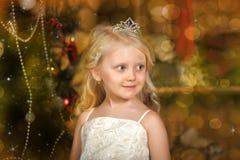 有冠状头饰的小公主 图库摄影