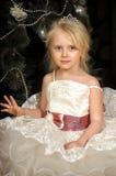 有冠状头饰的小公主 免版税图库摄影