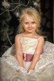 有冠状头饰的小公主 免版税库存图片