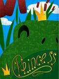 有冠的青蛙公主 免版税图库摄影