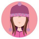 有冬天帽子的女孩 免版税库存照片