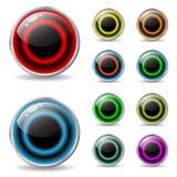 有凉快的颜色的网按钮 免版税库存图片