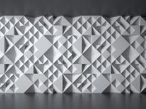 有几何3d样式的混凝土墙 免版税库存照片