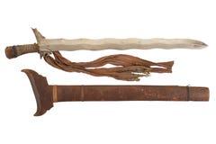 有刀鞘的莫罗Sondang剑 免版税库存照片