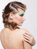 有创造性的发型的妇女 免版税图库摄影