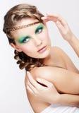 有创造性的发型的妇女 免版税库存照片