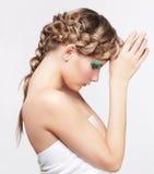 有创造性的发型的妇女 库存图片