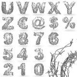 有刺的字体电汇 免版税库存图片