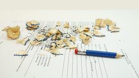 有削片的小黑铅笔 免版税库存图片