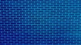 有削皮油漆背景纹理的蓝色砖墙 免版税库存图片