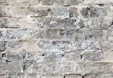 有削皮膏药的老砖墙 图库摄影