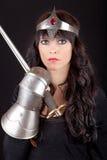 有剑的公主 库存照片