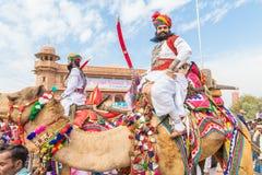 有剑的Rajasthani人 图库摄影