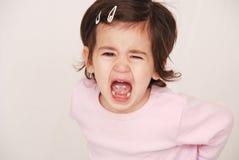 有勃然大怒小孩 免版税库存图片