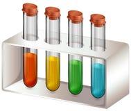 有化学制品的试管 向量例证