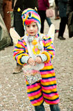 有化装舞会所穿着的服装的子项在Piazza del Popolo 库存照片