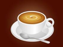 有匙子传染媒介例证的咖啡杯 库存图片
