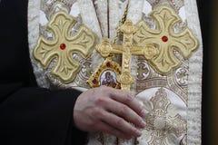 有十字架的主教 免版税库存图片