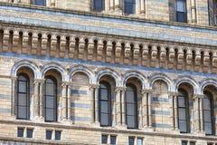 有华丽赤土陶器门面的,伦敦,英国自然历史博物馆 免版税库存图片