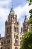 有华丽赤土陶器门面的,伦敦,英国自然历史博物馆 库存照片