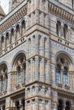 有华丽赤土陶器门面的,维多利亚女王时代的样式,伦敦,英国自然历史博物馆 库存图片