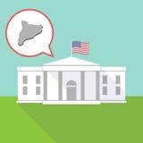 有卡塔龙尼亚的地图的白宫 免版税库存图片